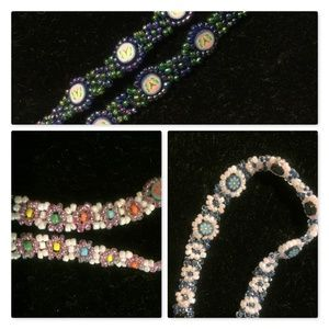 3pc set - Handmade beaded necklace and 2 bracelets
